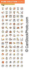 Business thin line icons - Business,finance and marketing...