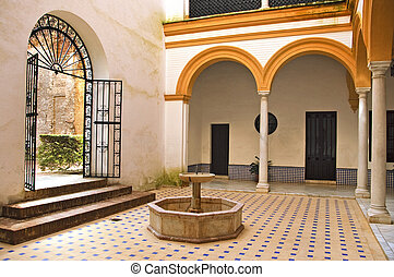 andalusian patio - view of an typical andalusian patio in...
