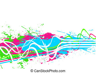 Splattered Paint Background - An abstract background with...