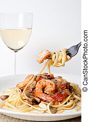 Shrimp Scampi with Pasta - A delicious shrimp scampi pasta...