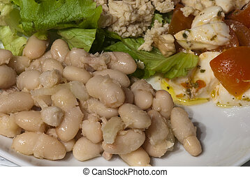 Hors d\'Oeuvre on a Tuscan Table - Hors d\'Oeuvre on a...