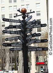 Distances to interesting parts of the World - A pole and...