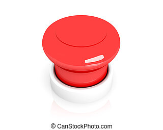 Panic Button - 3D Illustration Isolated on white