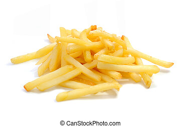 French fried - French fries isolated on a white background