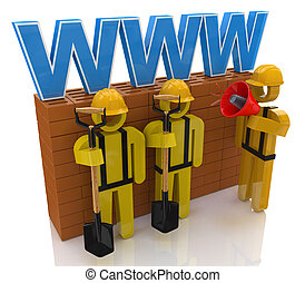 Website building or repair concept in the design of...