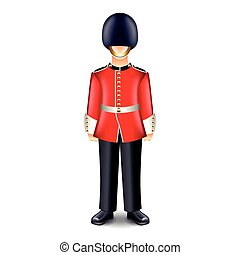 London guard isolated vector - London guard isolated on...