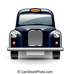 London taxi isolated vector