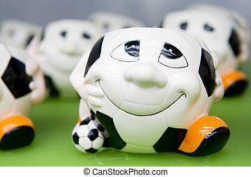Soccer merchandise - funny flower pots for world...
