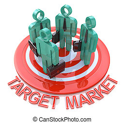 Target market marketing concept in the design of information...