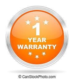 warranty guarantee 1 year orange silver metallic metallic...