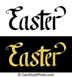Easter Hand Drawn Vector Lettering