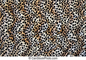 Abstract fabric made leopard cloth as background