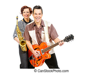 exciting musicians - Guitarist and saxophonist duo in the...