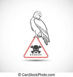 Eagle on danger symbol