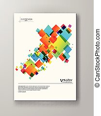 Abstract spectrum colorful bottom mosaic brochure.