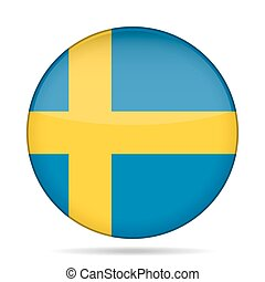 button with flag of Sweden