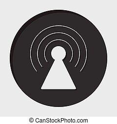 information icon - transmitter - information icon - dark...