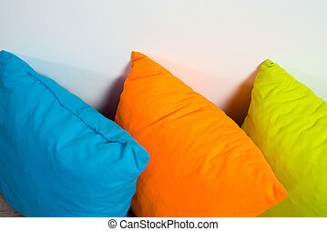 Pillows on floor
