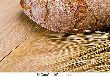 rye bread on a wooden table