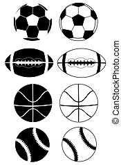balls black white - sport balls black and white