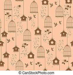 vintage bird cage - vintage background