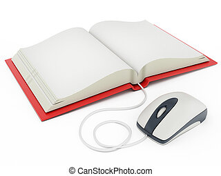Mouse connected to open book