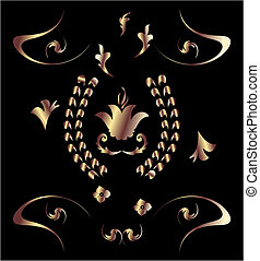 Royal bronze pattern - Royal bronzepattern - vector