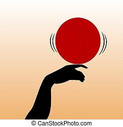 hand balancing ball