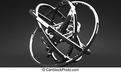 Silver Circle Abstract - Loop Able Silver Circle Abstract On...