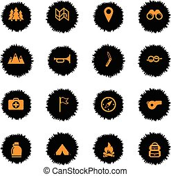 Boy scout simply icons - Boy scout vector icons for web...