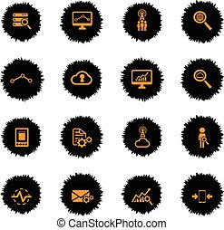 Data analytic simply icons - Data analytic vector icons for...