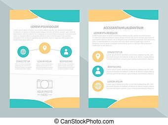 Vector flyer template design with front page and back page...
