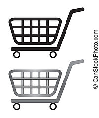illustration of shoping cart isolated on white background -...
