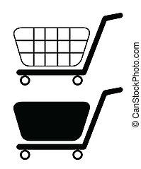 illustration of shopping cart isolated on white background