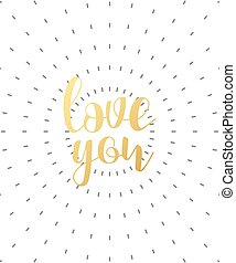 cal-n-03 - love you calligraphic phrase . Quote calligraphy...