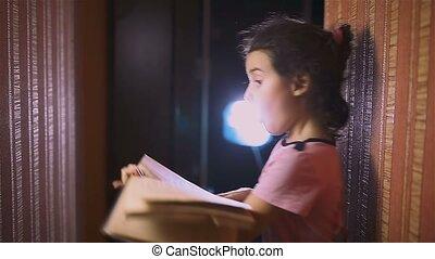 teen girl reading book education is wall indoor