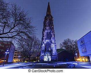 Christ Church in Bochum. Bochum, North Rhine-Westphalia,...