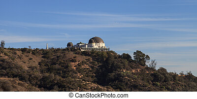 Griffith Observatory sunset - Los Angeles skyline at sunset...