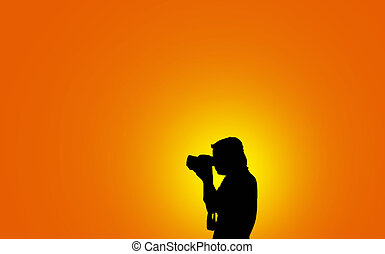 Photographer man silhouette - Photographer man  silhouette