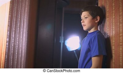 boy teen book reading is wall indoor education - boy teen...