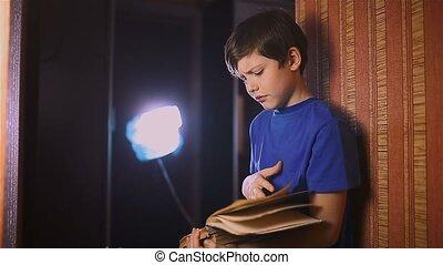 boy teen reading book education is wall indoor - boy teen...