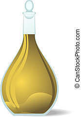 Illustration white wine decanter - vector