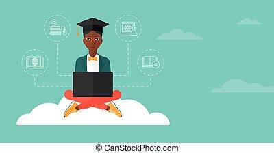nuage, Diplômé, séance