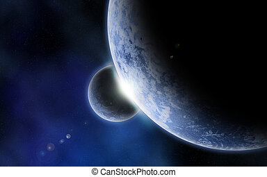 3D fictional space background