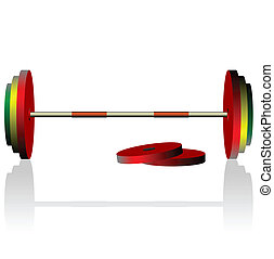 Realistick vector illustration dumbbell - vector