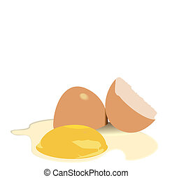 Illustration broken egg - vector