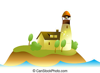 Lighthouse on an island