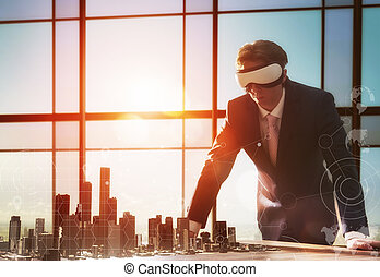 businessman developing a project