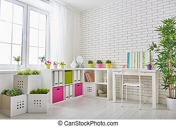 room for child - Interior of colorful unisex room for child