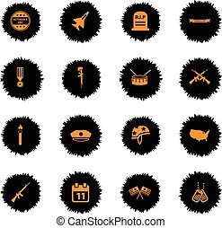 Veterans day simply icons - Veterans day vector icons for...